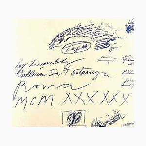 Folleto de exhibición Cy Twombly, vintage, Galleria La Tartaruga, 1960