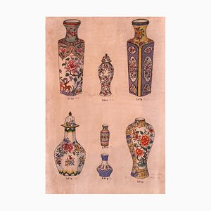 Sconosciuto, Inchiostro in porcellana, China Ink e acquerello, fine XIX secolo