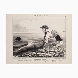 Honoré Daumier, Other Maritime Emotion, Lithograph, 1852