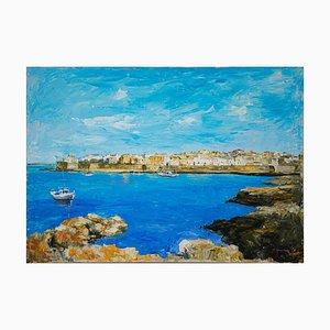 Desconocido, Vista de Gallipoli, óleo sobre lienzo, finales del siglo XX