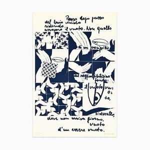 Set di 3 dipinti dello schermo Ennio Pouchard, Step by Step, Suite of 3, 1975, set di 3