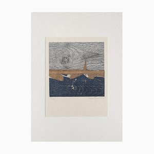 Yannis Papadakis, Landscape, Woodcut, 1970s
