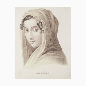 Unknown, Clotilde, Lithograph On Paper, 19th Century