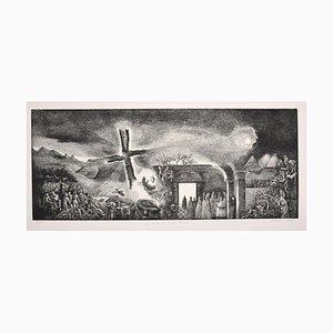 Piero Cesaroni, The Cross, Etching, 2003