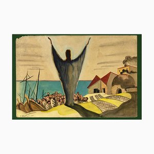 Jean Raymond Delpech, Capernaum, Technique Mixte, 1940