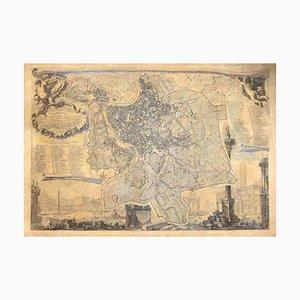 Giovanni Battista Nolli, Karte von Rom, Radierung, 1848