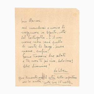 Libero De Libero, Brief von Libero De Libero an Mino Maccari, 1930er