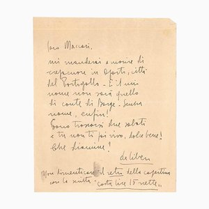 Libero De Libero, Letter from Libero De Libero to Mino Maccari, 1930s