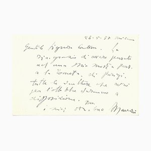 Autographe, Anna Magnani, 1956