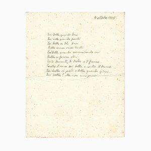 Mino Maccari, You're Beautiful When You Are Quiet, Manuscript, 1945
