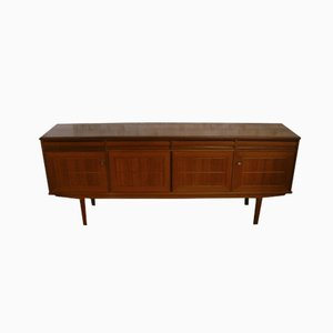 Danish Teak Sideboard with Cassette Doors, 1970s