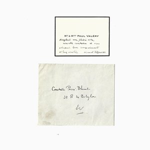 Paul Valéry, Valéry's Business Card with Autograph, 1930s