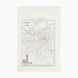 Sconosciuto, Mappa di Senna, Acquaforte, XIX secolo