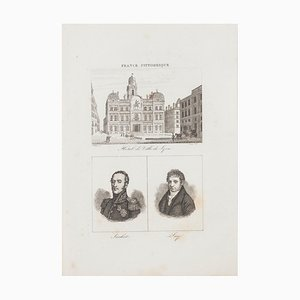 Unknown, Portraits and Cityscape, Lithograph, 19th Century