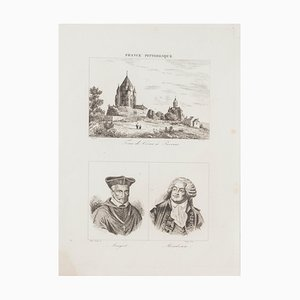 Unknown, Portraits and Landscape, Lithograph, 19th Century