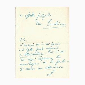 Luchino Visconti, Autograph Letter, 1949