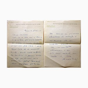 Romolo Valli, Autographed Letters, 1960s