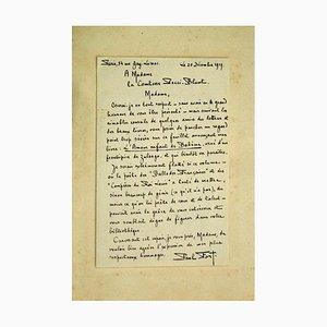 Paul Fort, Autograph Letter, 1929