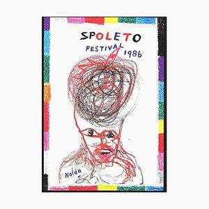 Kenneth Noland, Spoleto Festival, Offset Print, 1986