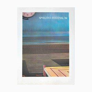 Leonardo Cremonini, Spoleto Festival, Offset and Lithograph, 1984