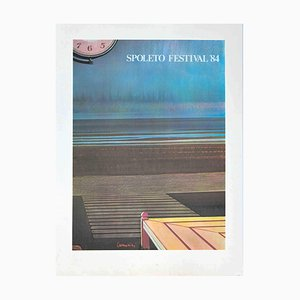 Leonardo Cremonini, Spoleto Festival, Offset und Lithographie, 1984
