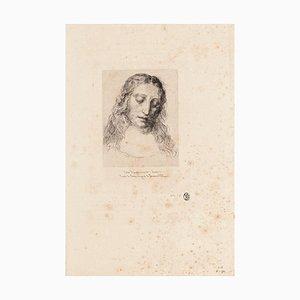 Jules Ferdinand Jacquemart, Portrait of Leonardo Da Vinci, Etching