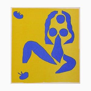 Henri Matisse, Komposition in Blau & Gelb, Lithografie, 1960er