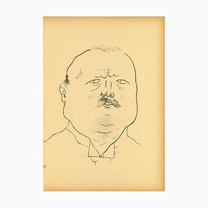George Grosz, Man of Honor, Offset and Lithograph, 1923