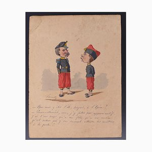 Edmond Lavrate, Caricature, Drawing, 19th Century