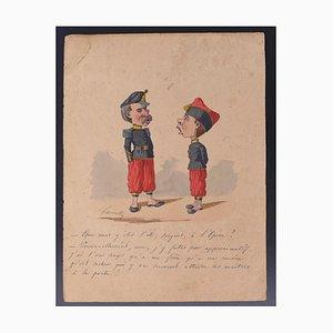 Edmond Lavrate, Karikatur, Zeichnung, 19. Jahrhundert