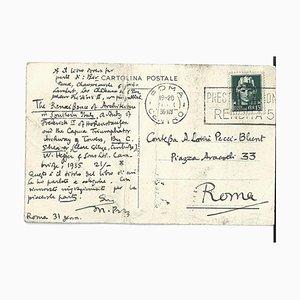 Mario Praz, A Study On Frederick II of Hohenstaufen, Autograph Postcard, 1936