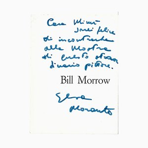 Elsa Morante, Morrow's Leaflet with Autograph, 1962
