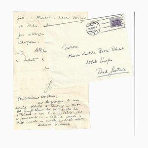 Moravia Alberto, Autograph Letter, 1933