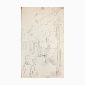 Unknown - Landscape - Original Drawing in Pencil on Paper - Early 20th century
