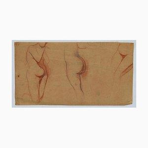 Daniel Gainsbourg, Woman's Figure, Pencil and Pastel, 1916