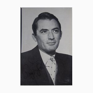 Unknown - Gregory Peck's Autographed Postcard - 1960s