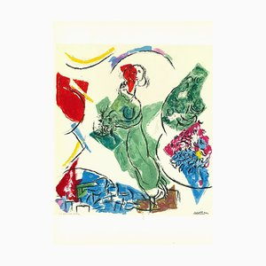 Marc Chagall, Behind the Mirror, Lithograph, 1964