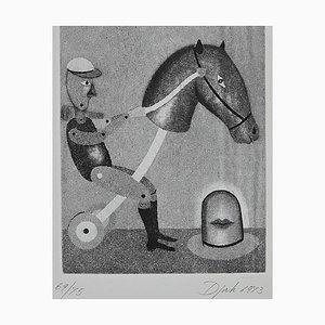 Zivko Djak, Rocking Horse, Etching, 1973