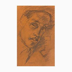 Mino Maccari, Porträt, Bleistiftzeichnung, 1930er