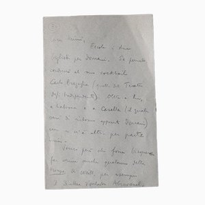 Vittorio Rieti, Cocktail Einladung, Autogramme, 1930