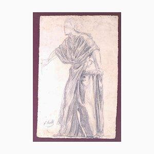 Paul Borel, Figure, Pencil, 19th Century