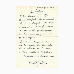 Renato Guttuso, Buchstabe von Renato Guttuso Über Falsifications, 1952