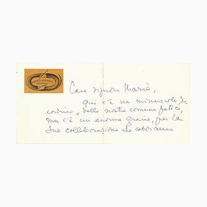Peter Garinei and Sandro Giovannini - Autograph Card - 1950s