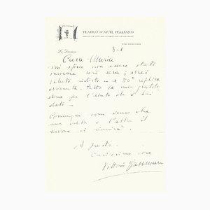 Renato Guttuso, Autograph Letter by Vittorio Gassmann, 1950s