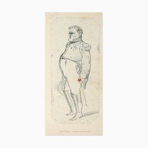 Etienne Omer Wauquier, The General….baron De Brielhe, Pencil, Mid-19th Century