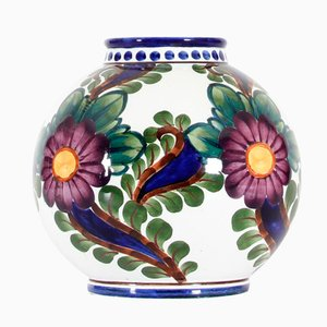 Vaso sferico in ceramica di Harald Slott-Moeller, Danimarca, 1905
