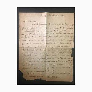 Ottone Rosai - Letter by Ottone Rosai - 1940