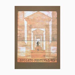 Mario Ceroli - Spoleto Festival - Original Offset and Lithograph - 1983