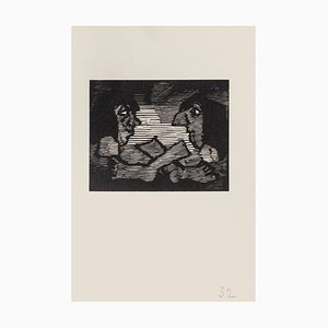 Mino Maccari, The Gaze, Holzschnitt auf Papier, Mitte 20. Jahrhundert