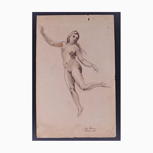 Nan Borazzo - Nude of Dancing Nymph - Original Pencil Drawing - 1931